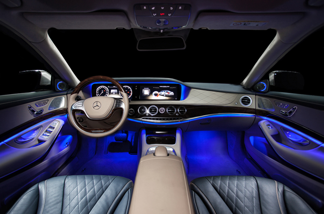 Full color led interior car kit under dash foot floor seats accent lighting ebay for Interior accent lights for cars