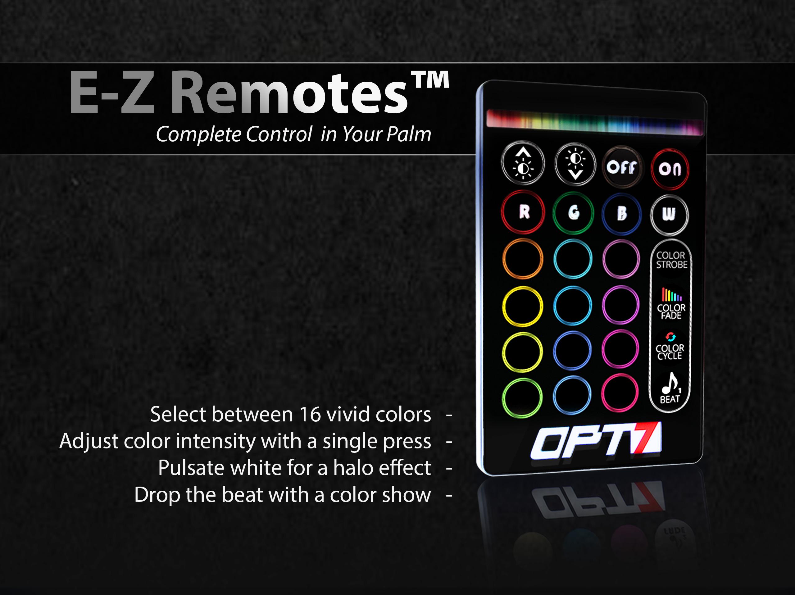 aura wheel well light remote control